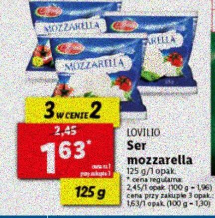 Ser Mozzarella 125 g przy zakupie 3 szt. @Lidl