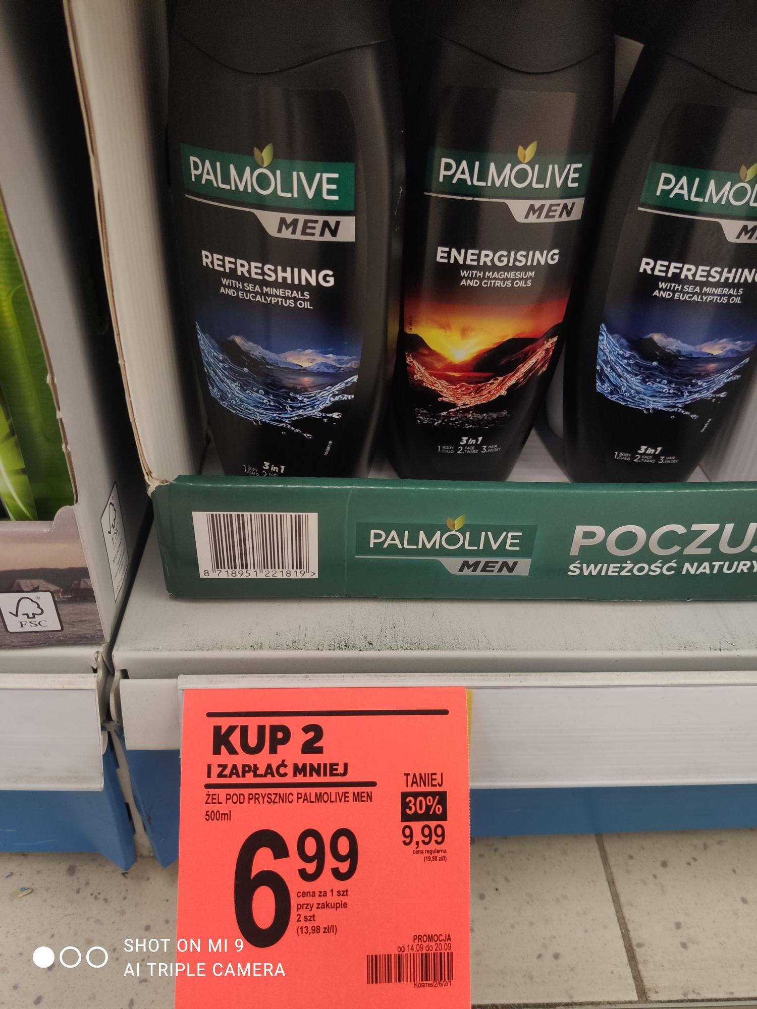 Żel pod prysznic Palmolive Men 500 ml przy zakupie 2 szt, Żel pod prysznic Schauma Men 400 ml przy zakupie 2 szt 5,99zł
