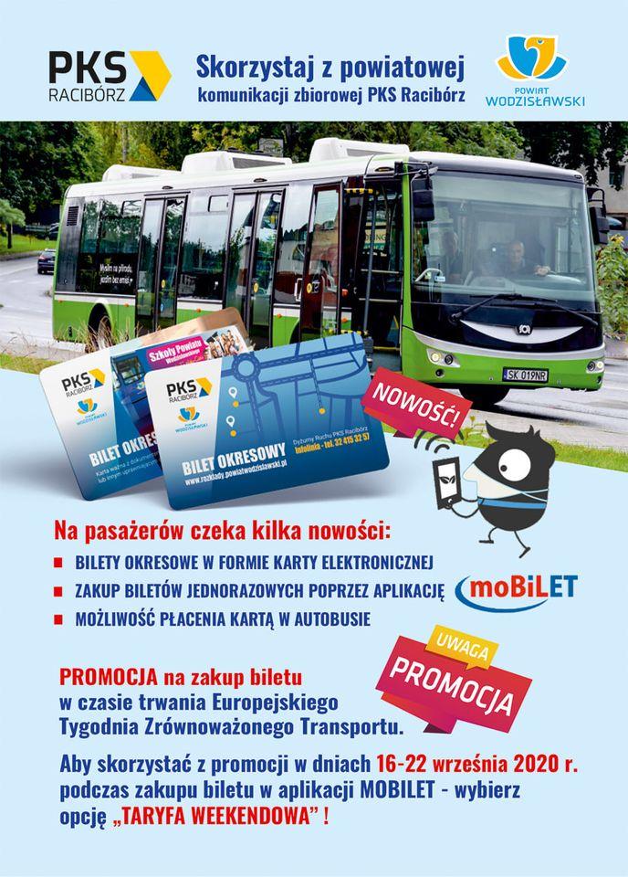 Bilety za 50 groszy z PKS Racibórz (Powiat Wodzisławski) z okazji Europejskiego Tygodnia Transportu