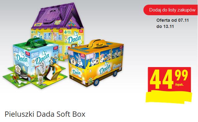 Pieluszki Dada Soft Box za 44,99zł + dermokosmetyki Dada za 1zł @ Biedronka