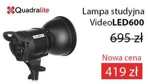 Lampa filmowa/video Quadralite VideoLED600 -200zl