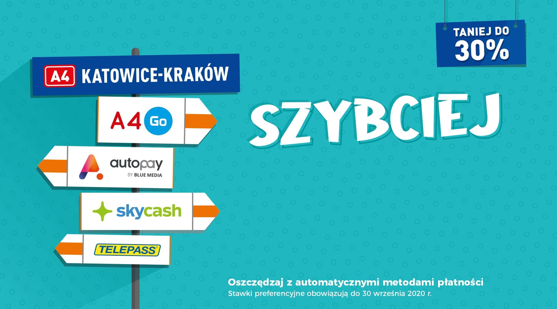 Tańsze przejazdy A4 Katowice-Kraków przez 2 lata! Zamiast podwyżki o kilkanaście % - zachowana cena przez 730 dni.