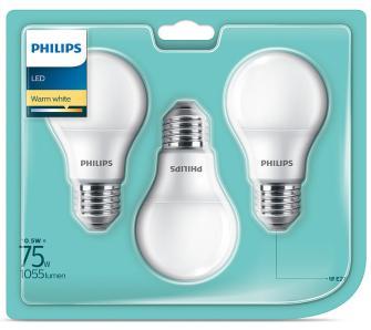 Żarówki Philips LED 10,5 W (75 W) E27 1055 lm ciepła biel 3 szt.. o/os 0zł