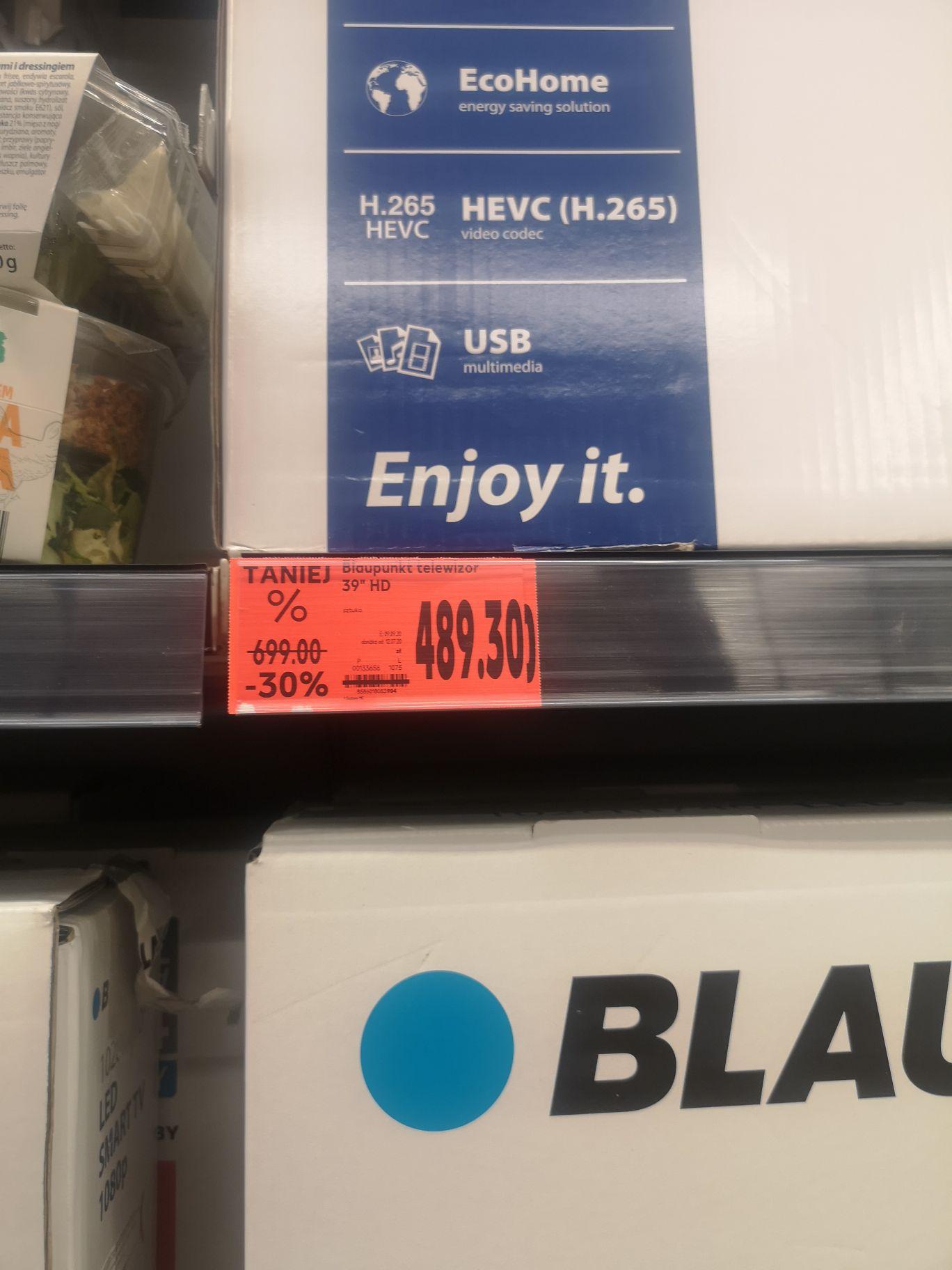 Tv Blaupunkt 39 cali, 720p w dobrej cenie w Kaufland