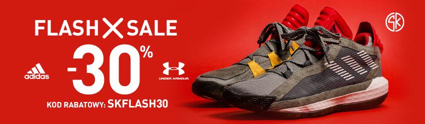 Kod rabatowy 30% na stronie Sklep Koszykarza, produktu Adidas i Under Armour