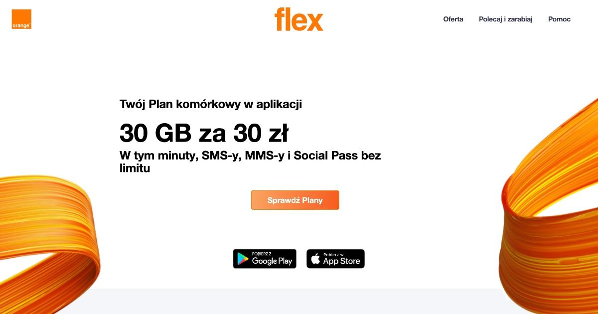 Pierwszy miesiąc za 1 zł w Orange Flex dla Firm (Plan 100GB lub dowolny inny)