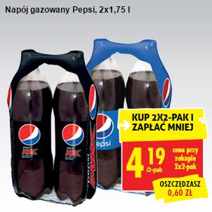 #Biedronka: Pepsi 2x1,75l przy zakupie 2 sztuk