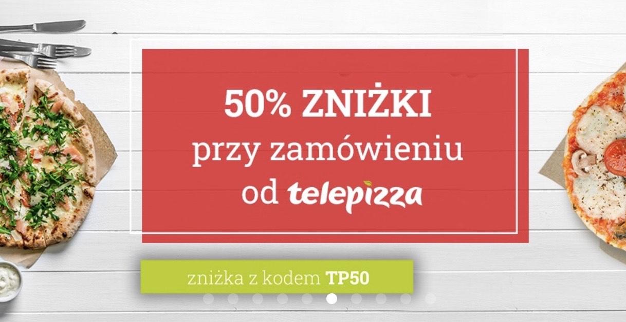 TELEPIZZA -50% na zamówienie przez Uber Eats / MWZ (przed rabatem) 40 PLN / 3 x średnia pizza za 26,98