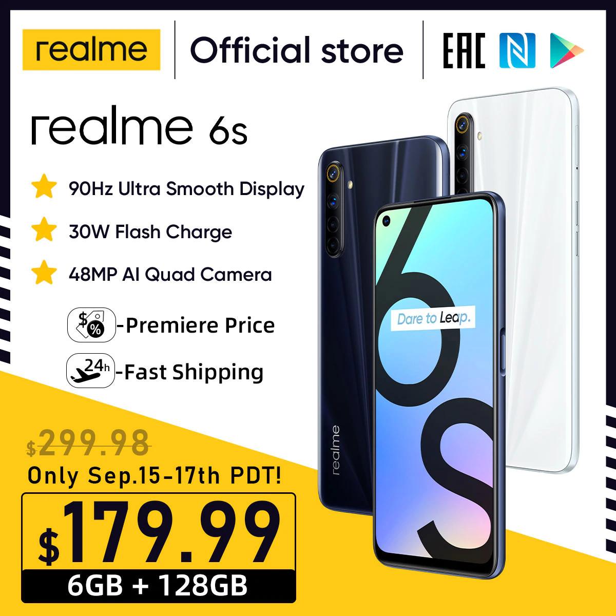 Realme 6s /90Hz 6.5 cala FHD+ /6GB 128GB