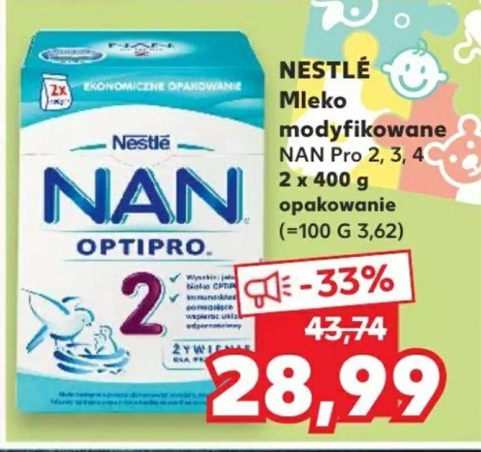 Mleko modyfikowane NESTLE NAN pro 2,3,4 800g | 17.09-23.09 @kaufland