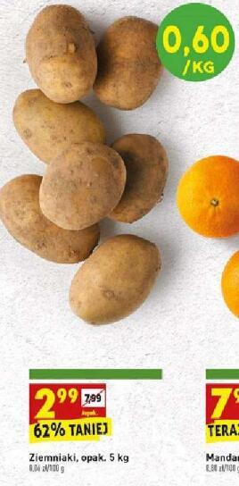 Ziemniaki 5kg (0,60 zł/kg) @Biedronka