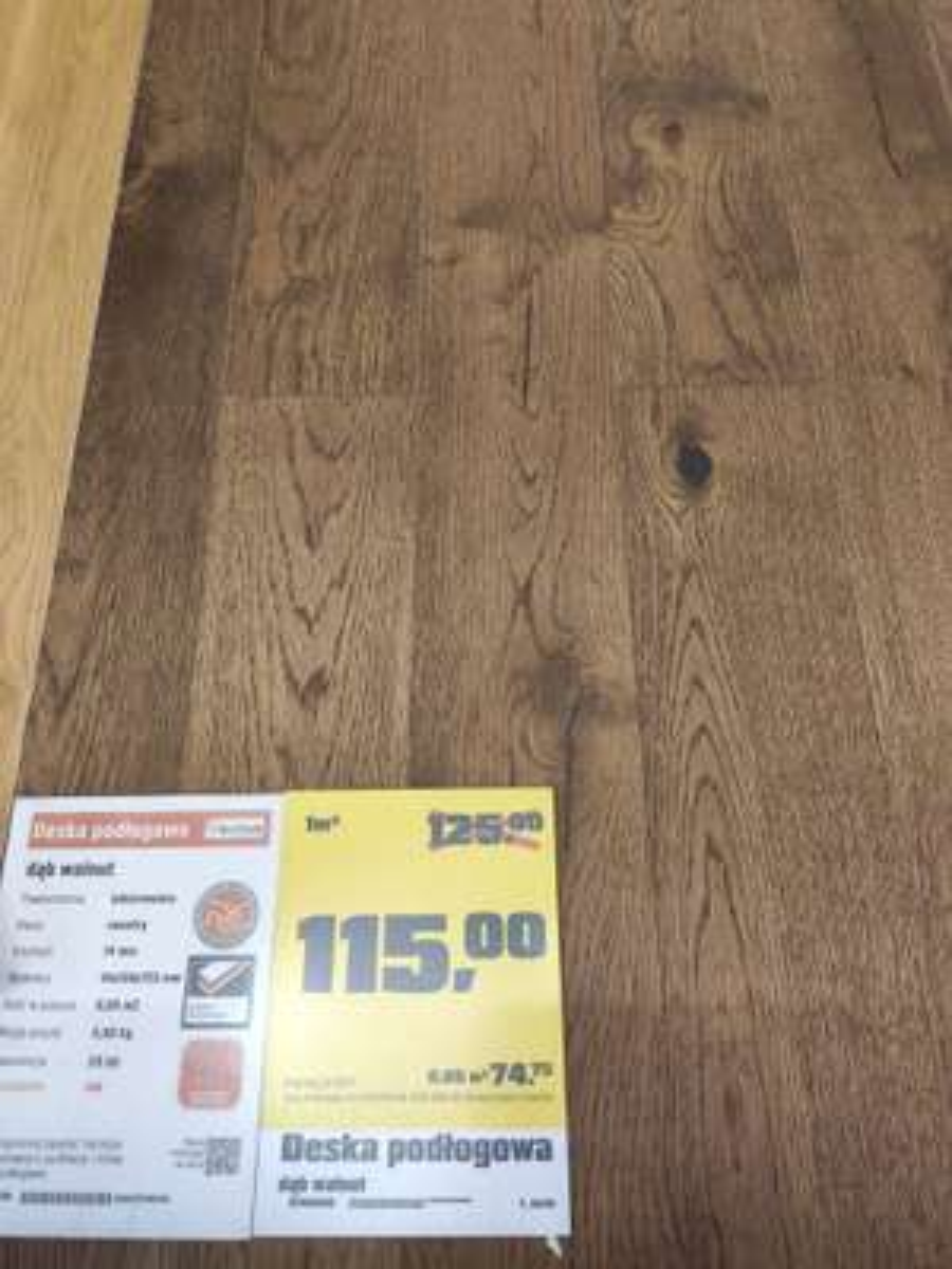 Deska podłogowa dąb walnut 14mm x 130mm x 725mm