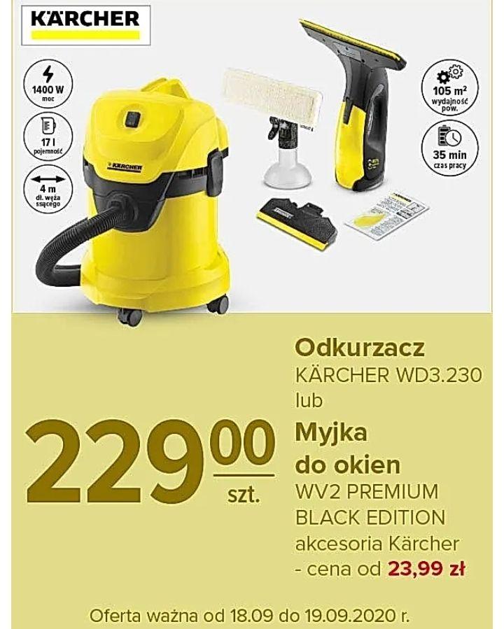 Odkurzacz przemysłowy KARCHER WD 3 lub myjka do okien Karcher WV 2 Premium Black Edition - Carrefour