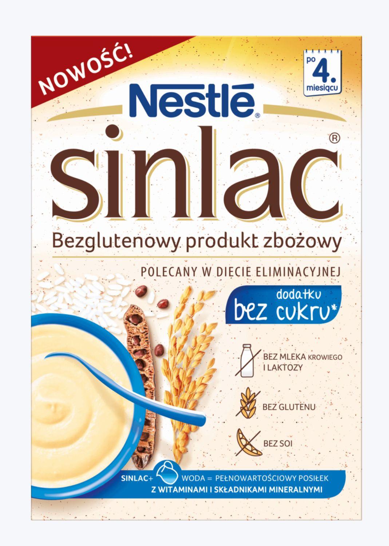 Sinlac bezglutenowy produkt zbożowy bez cukru Biedronka