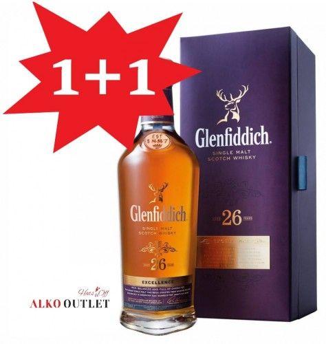 Whisky Glenfiddich 26YO 0,7 cena przy zakupie 2szt z kodem 1+1, ALKOOUTLET