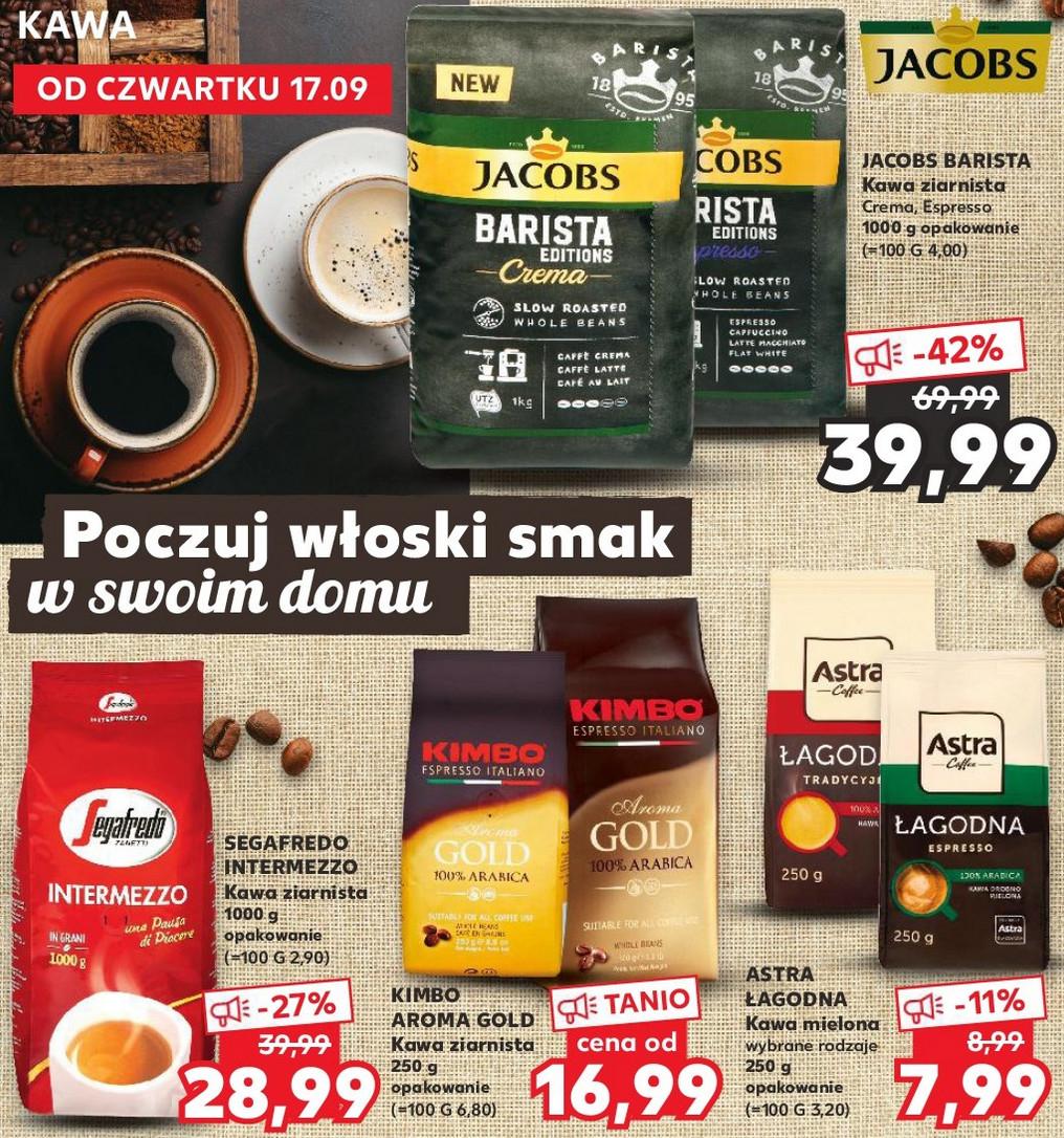 Kawy w m.in. Kaufland Jacobs Barista ziarnista 1kg