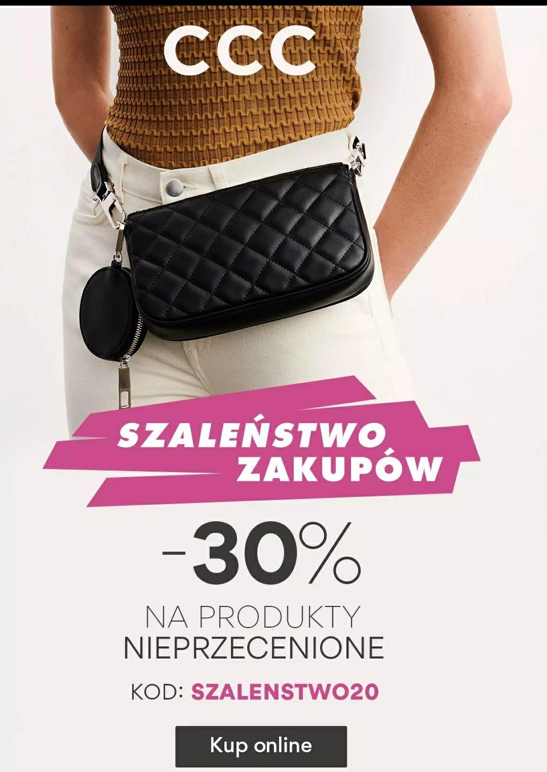 -30% na produkty nie przecenione z kodem | darmowa dostawa | 24.09-27.09 @CCC