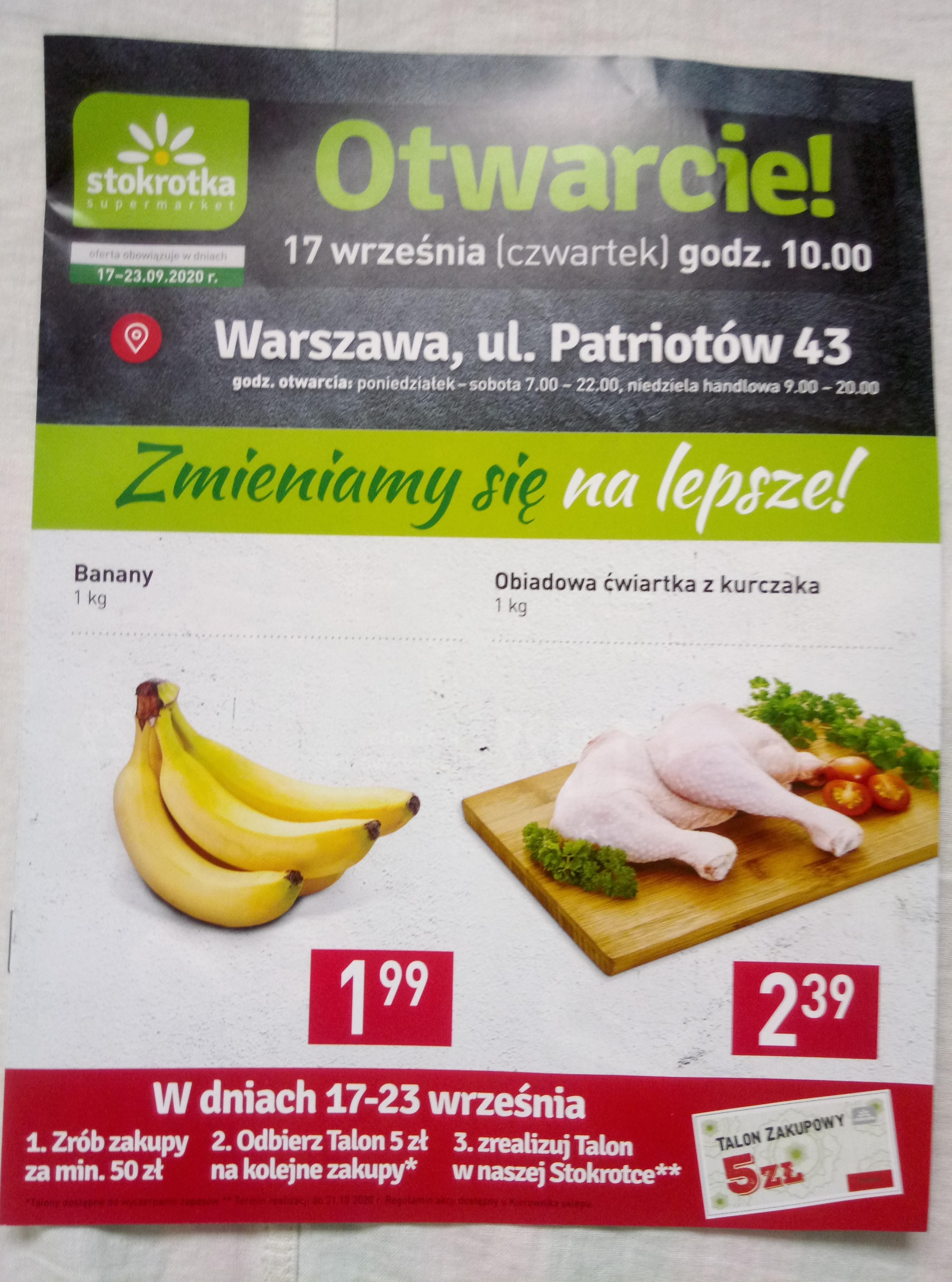 Stokrotka otwarcie patriotów 43 wwa banany