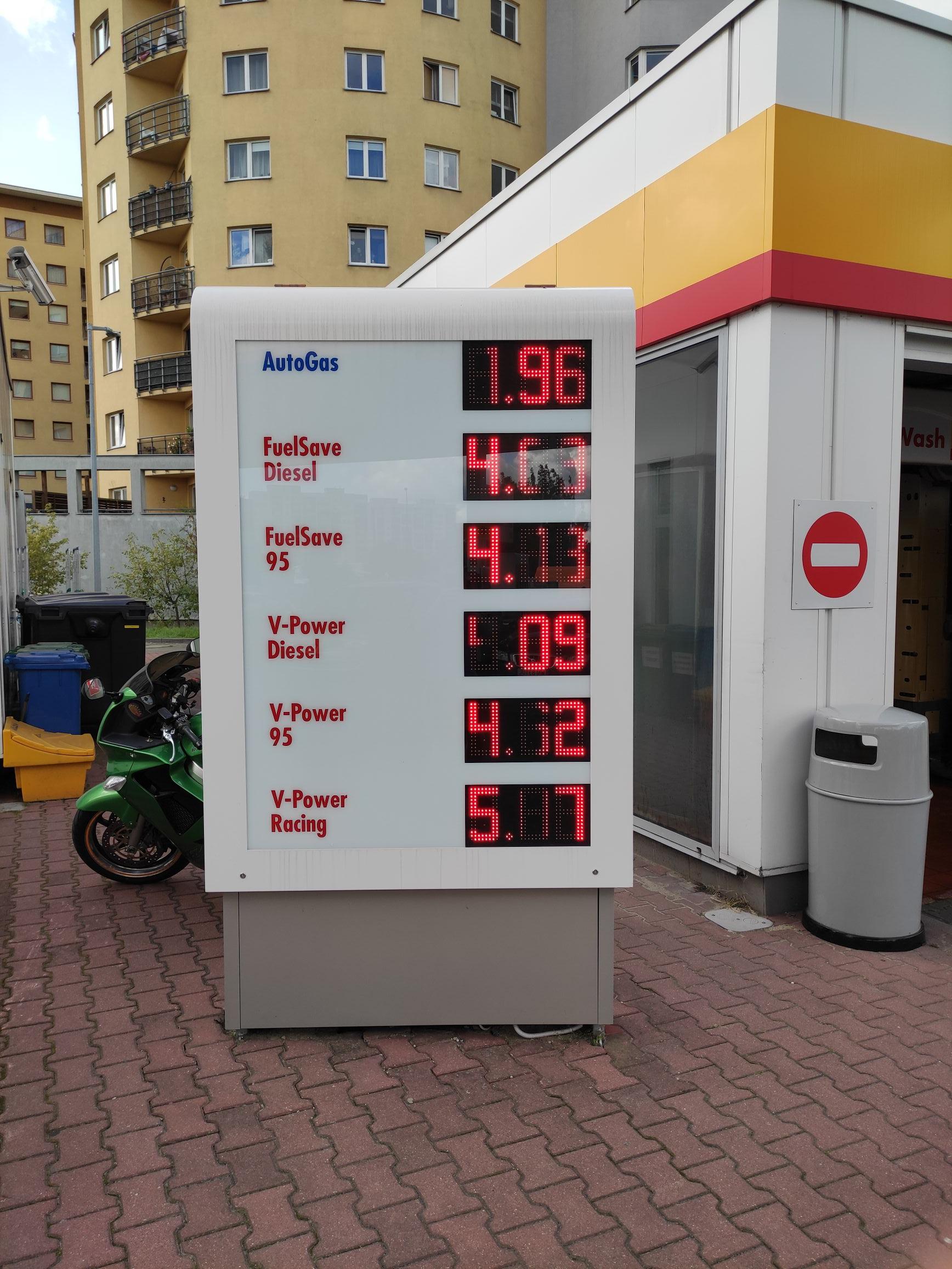 Shell - Pileckiego Warszawa tani diesel