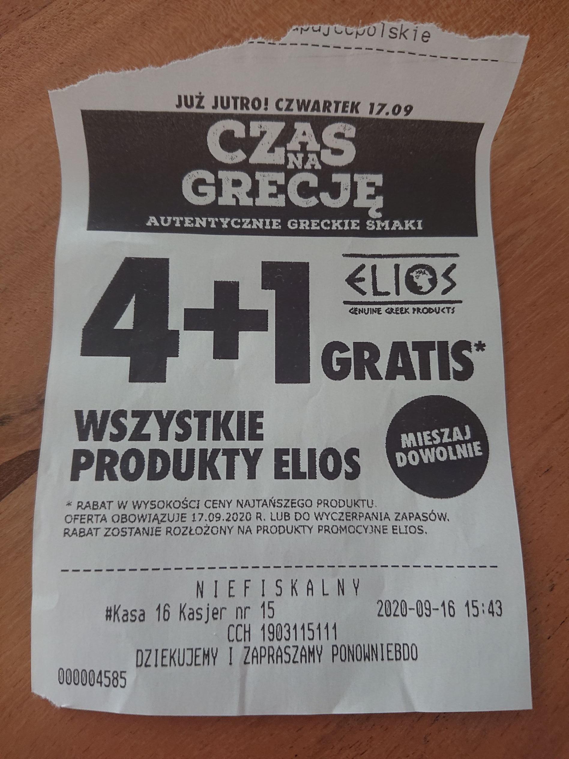 Biedronka promocja na produkty greckie Elios. Ważne tylko dziś