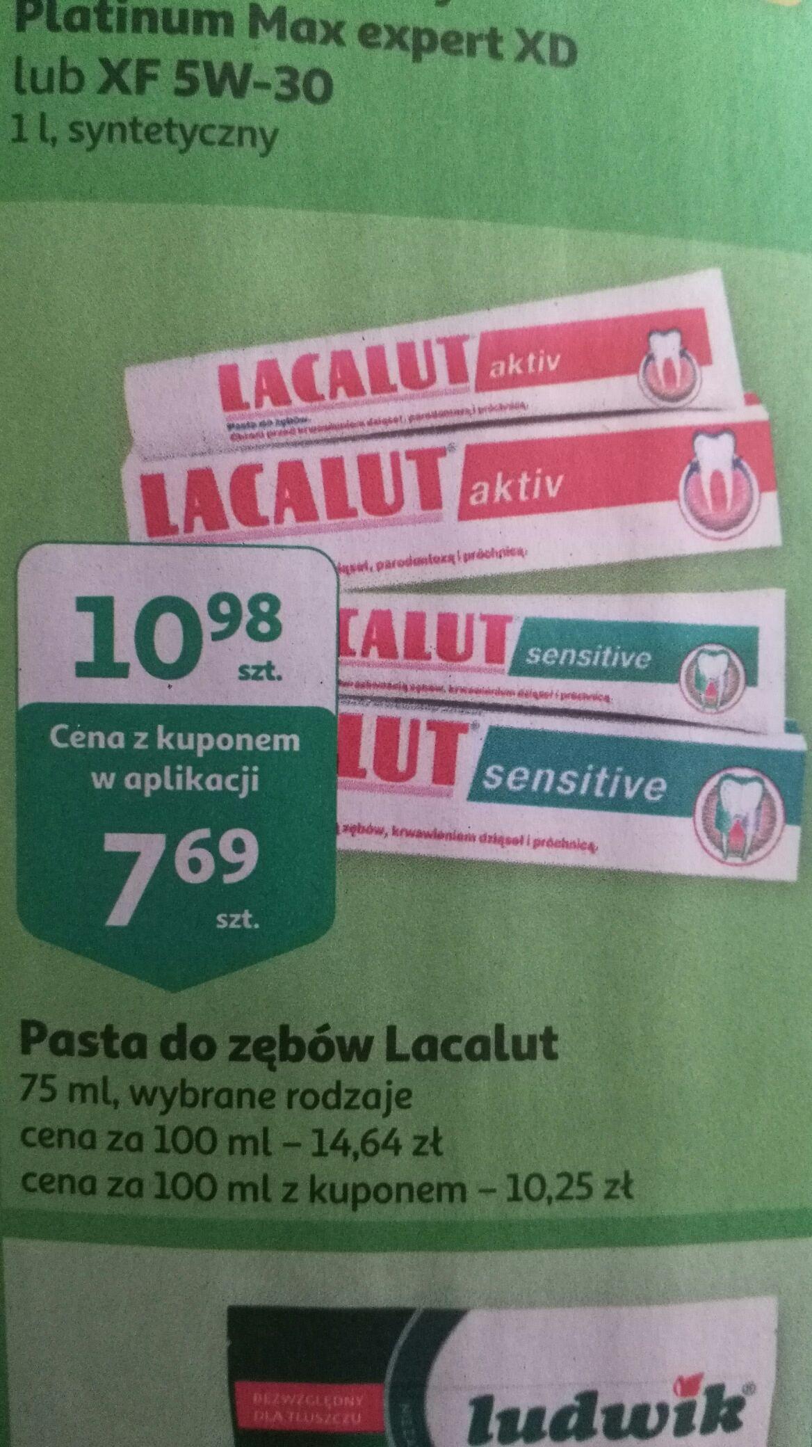 Pasta do zębów lacalut active i lacalut sensitive @auchan