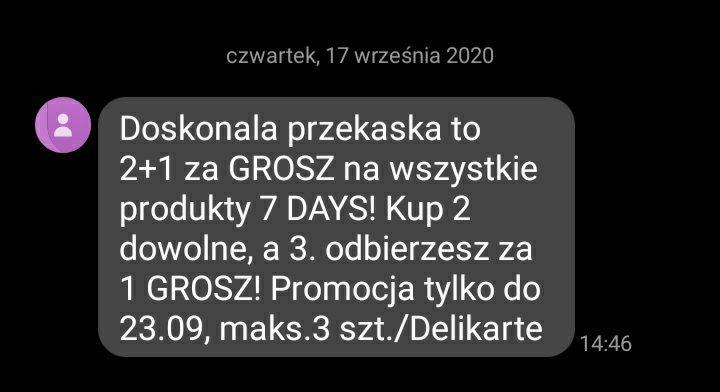7 Days 2 + 1 za grosz Delikatesy Centrum