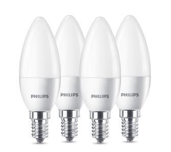 Żarówka Philips LED świeczka 5,5 W (40 W) gwint mały E14 4 szt., odb. os. 0zł