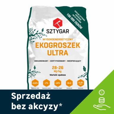 Ekogroszek Sztygar ULTRA 28 MJ, 25 kg (878 zł/tona), odb.os. 0zł