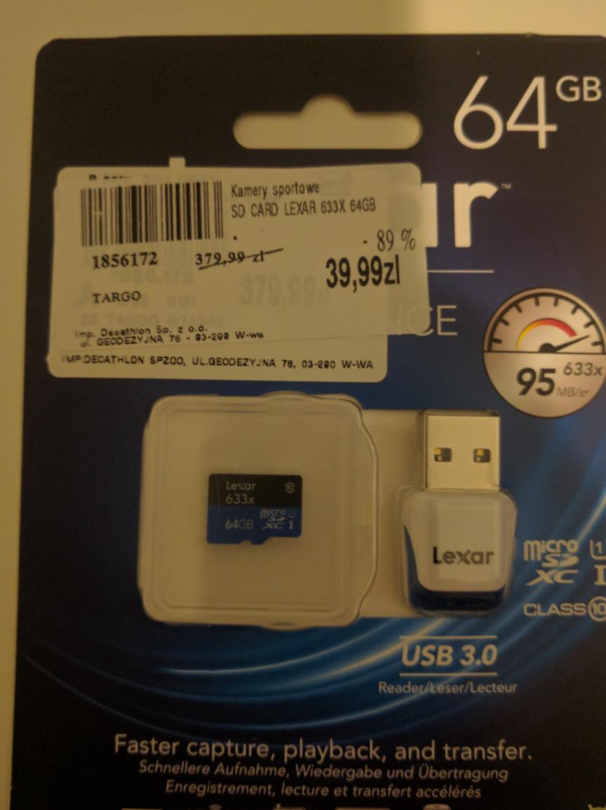 Karta pamięci Lexar 633x 64GB - decatlon