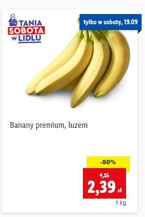 Banany 2,39 zł/kg Karkówka 8,99 zł/kg @Lidl