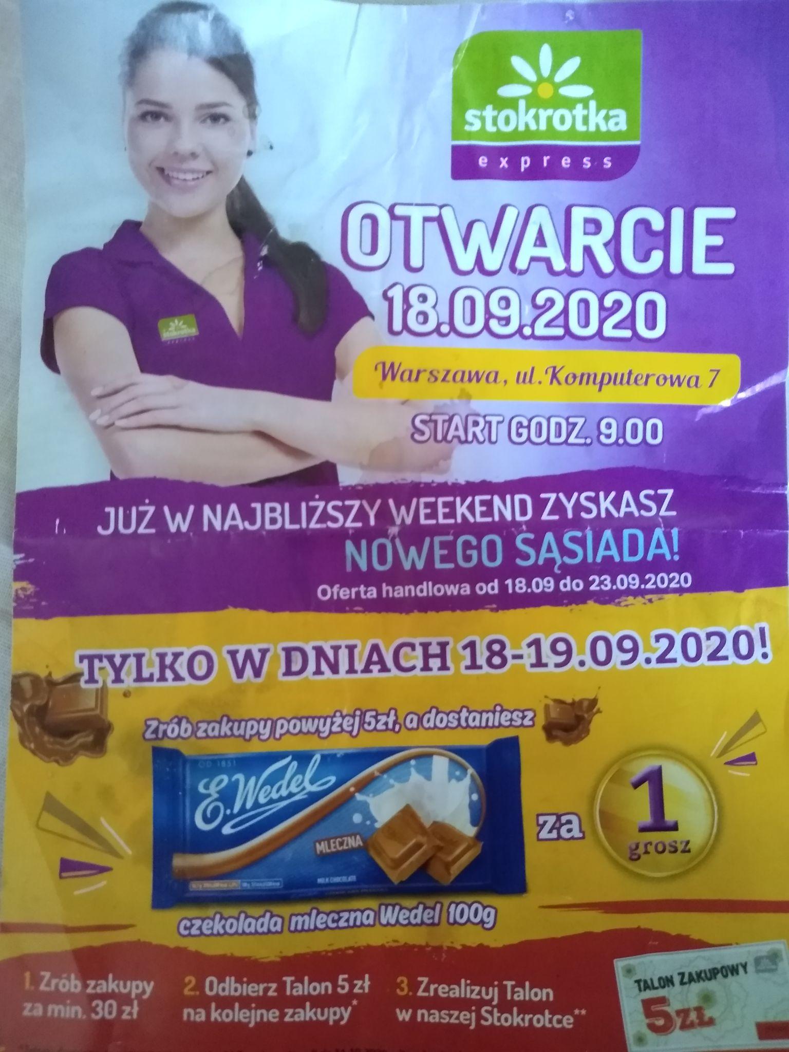 Otwarcie sklepu Stokrotka, Warszawa, komputerowa 7