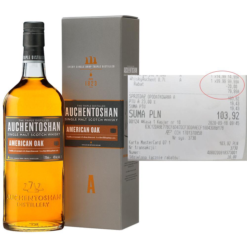 Whisky Auchentoshan American Oak 0,7L