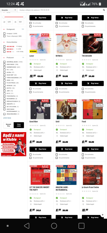 Muzyka CD.Wyprzedaż w sklepie internetowym media markt .
