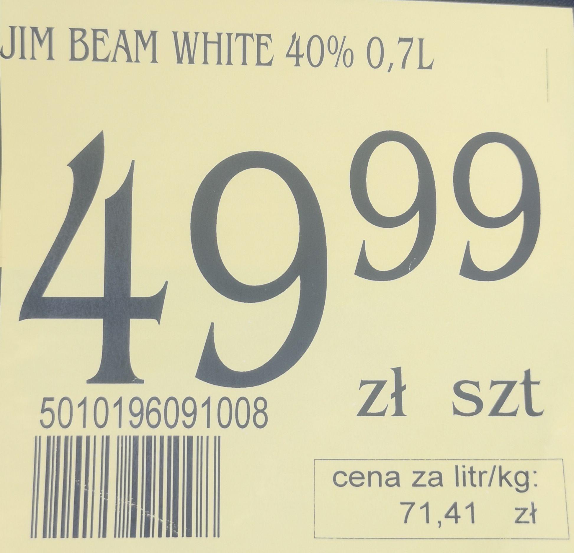 Whiskey Jim Beam 0.7 White cena 49.99zł