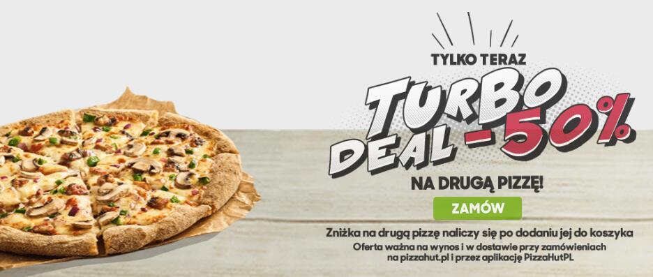 Pizza hut - Turbo deal -50% na druga pizze