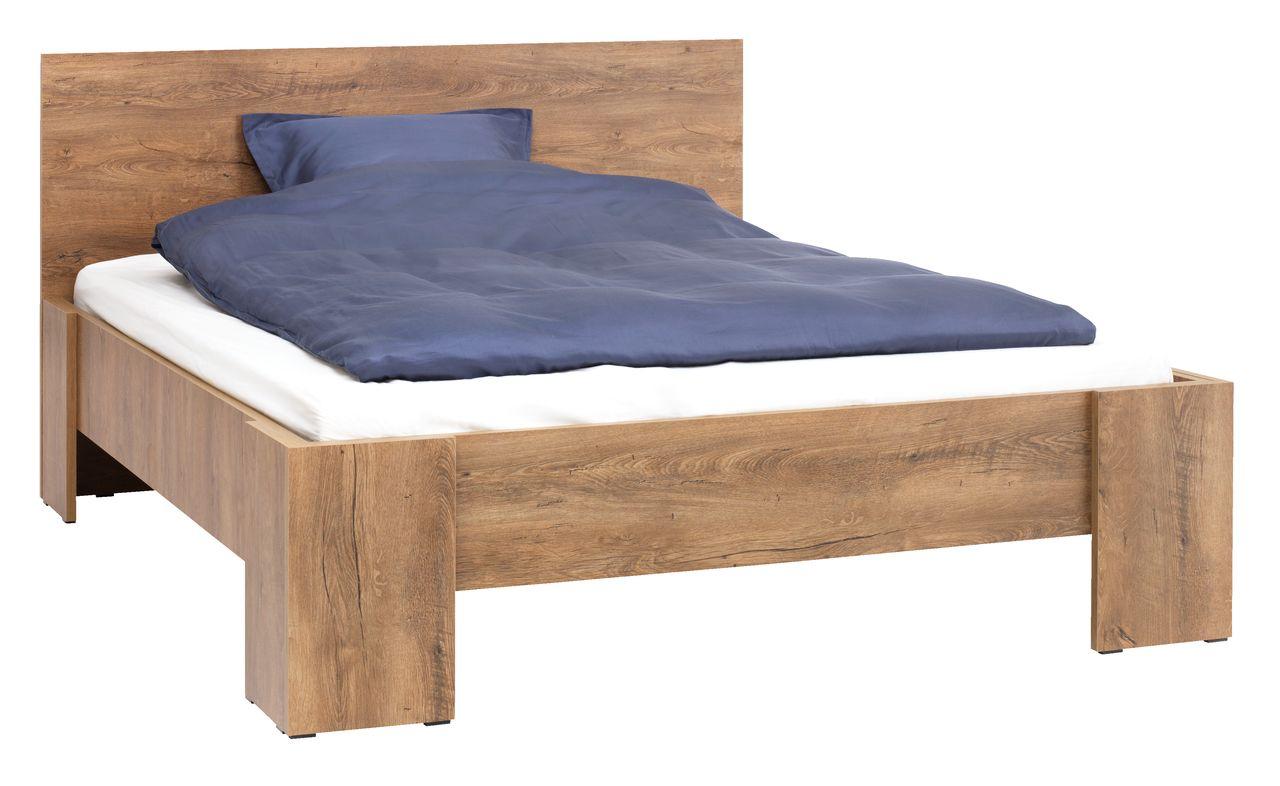 Rama łóżka VEDDE 140x200 dąb dziki - jysk