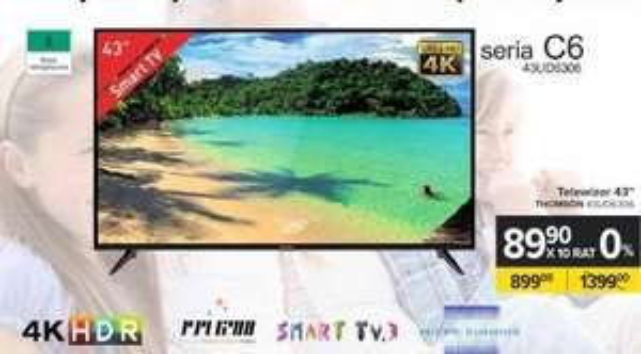 Telewizor Thomson 43UD6306, 4K UHD, HDR, SMART TV, Wi-Fi - Carrefour