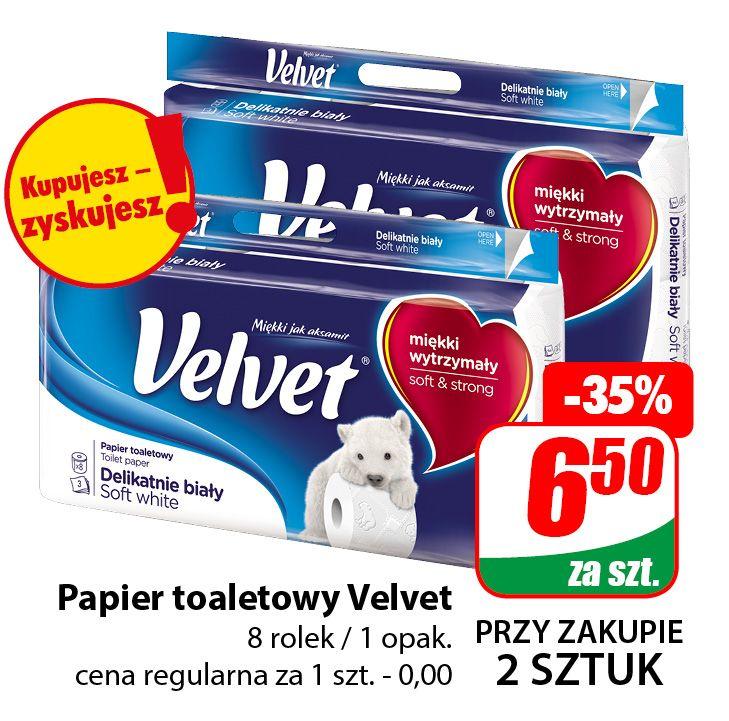 Papier toaletowy Velvet 8 rolek (cena przy zakupie 2 opak.) - DINO