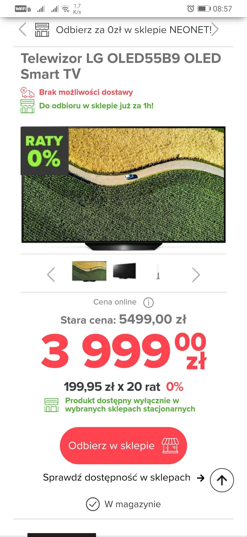 "Telewizor LG OLED B9 55"""