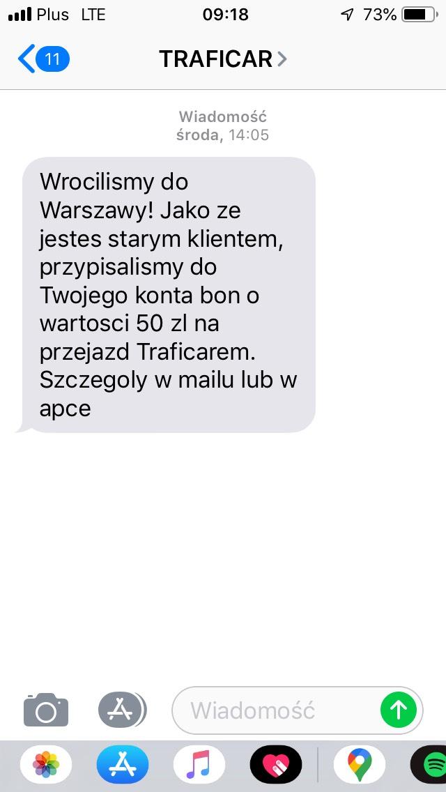 [Traficar] kupon 50 zł - Warszawa