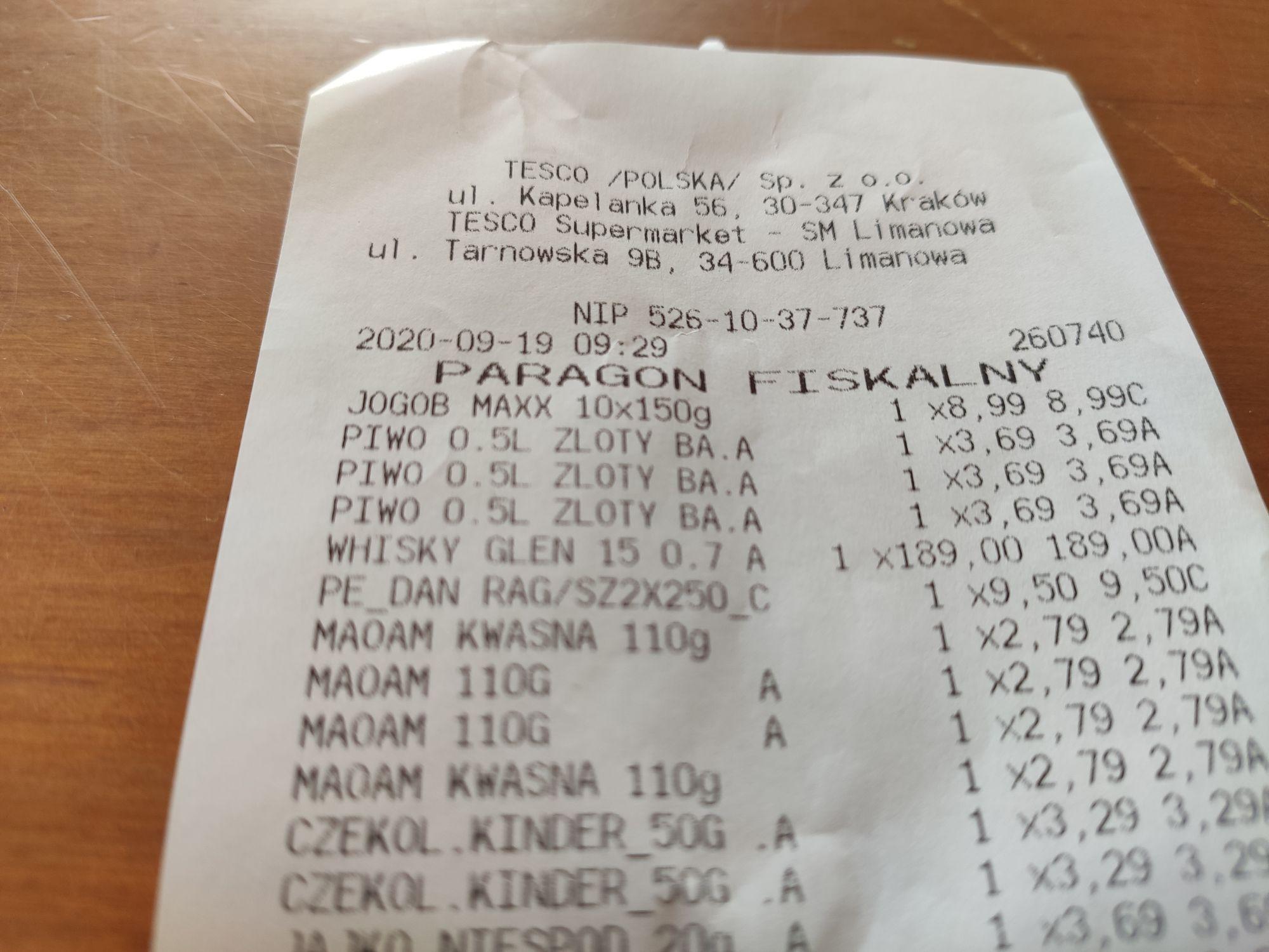 Whisky Glenfiddich 15 YO 0,7 Tesco Limanowa