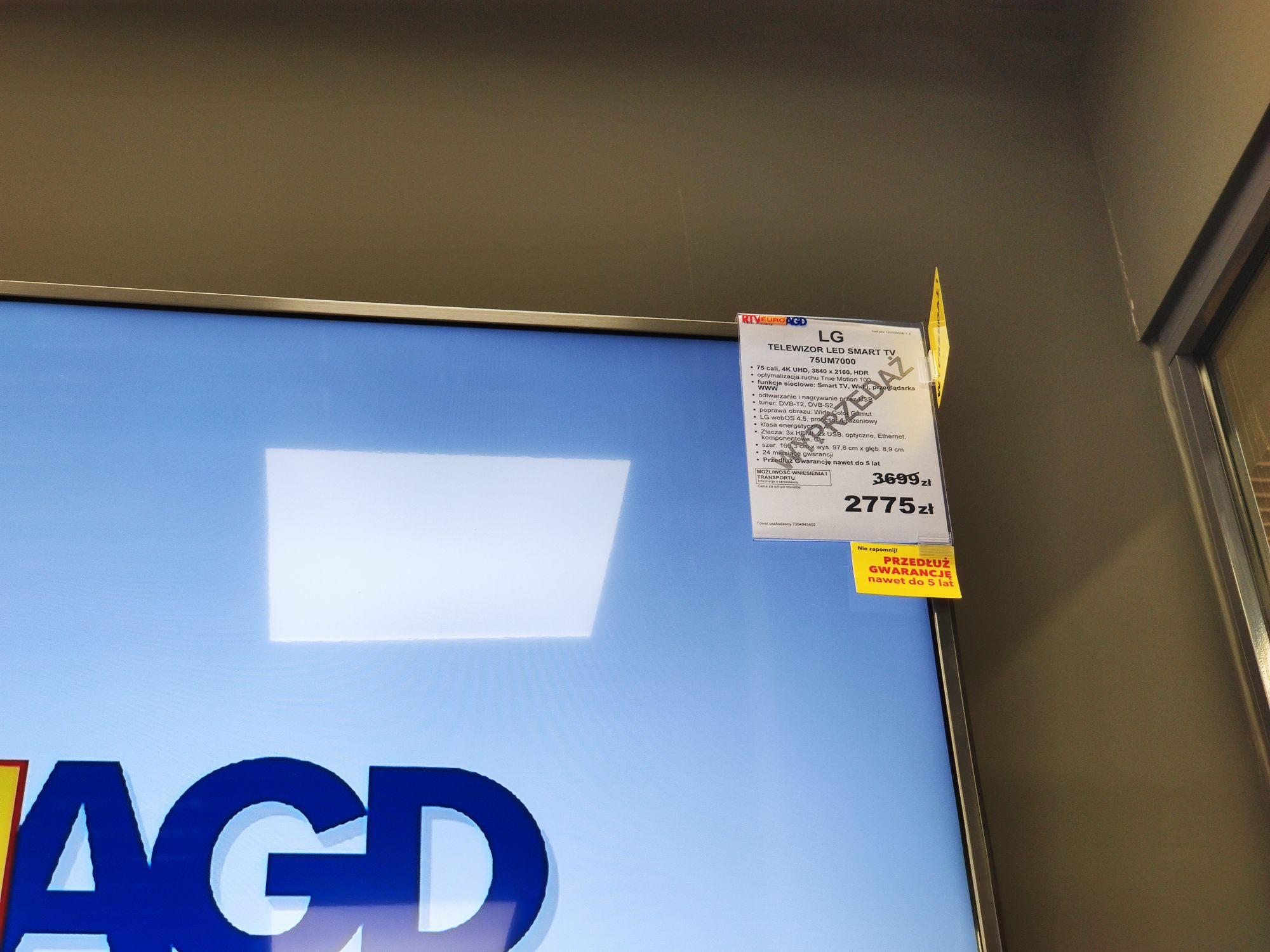 TV LG 75UM7000 (lokalnie?) RTV Euro AGD Swarzędz