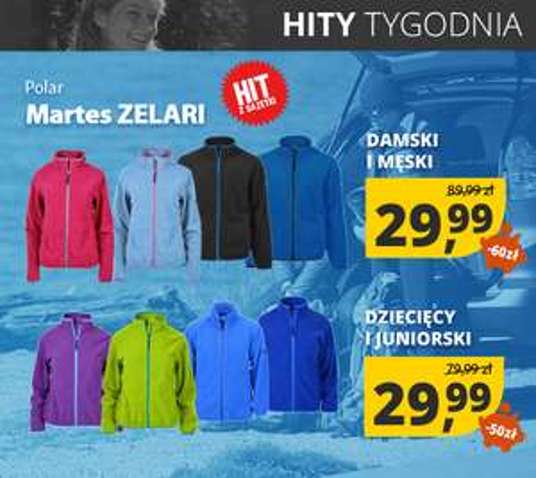 Polary damskie, męskie i dziecięce Zelari (duży wybór kolorów) przecenione na 29,99zł (31,99zł z kurierem DHL) @ Martes