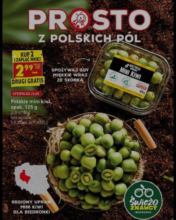 2x opakowanie 125g - polskie (!) mini kiwi z Wielkopolski (2,99 zł za 1) @ Biedronka