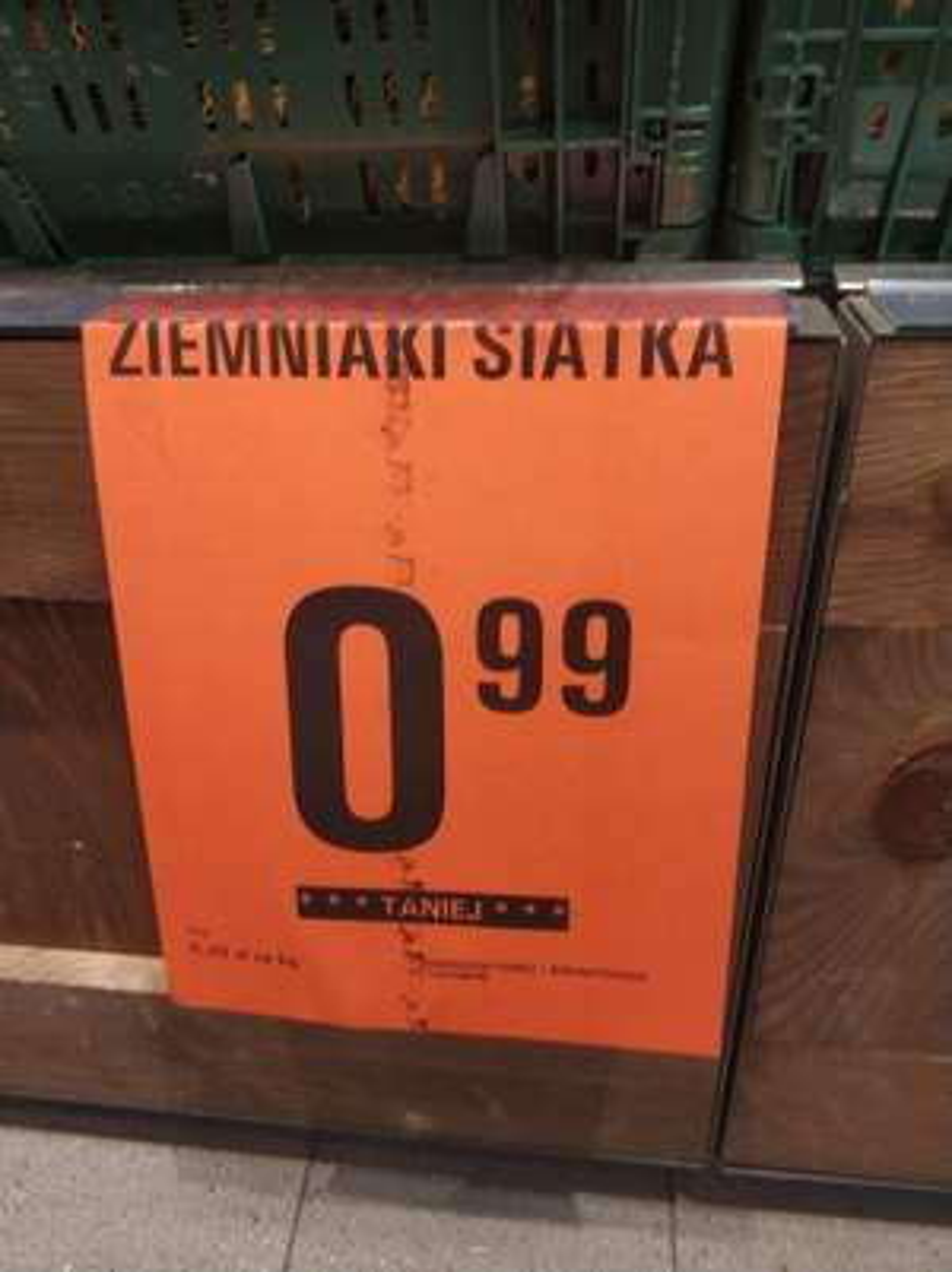 Ziemniaki 5kg za 0.99 zł. Netto.