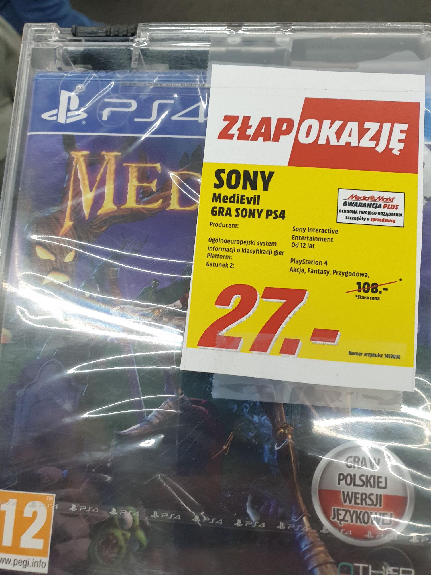 MediEvil PS4 w MediaMarkt Targowek