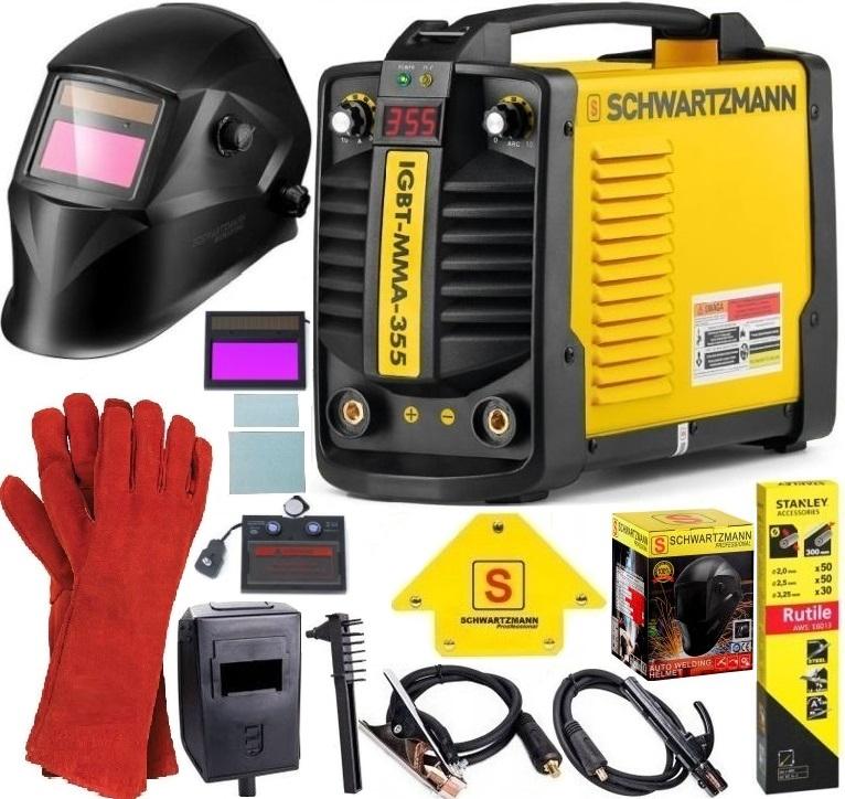 Spawarka SCHWARTZMANN IGBT-MMA-355 + zestaw wyposazenia i akcesoriów