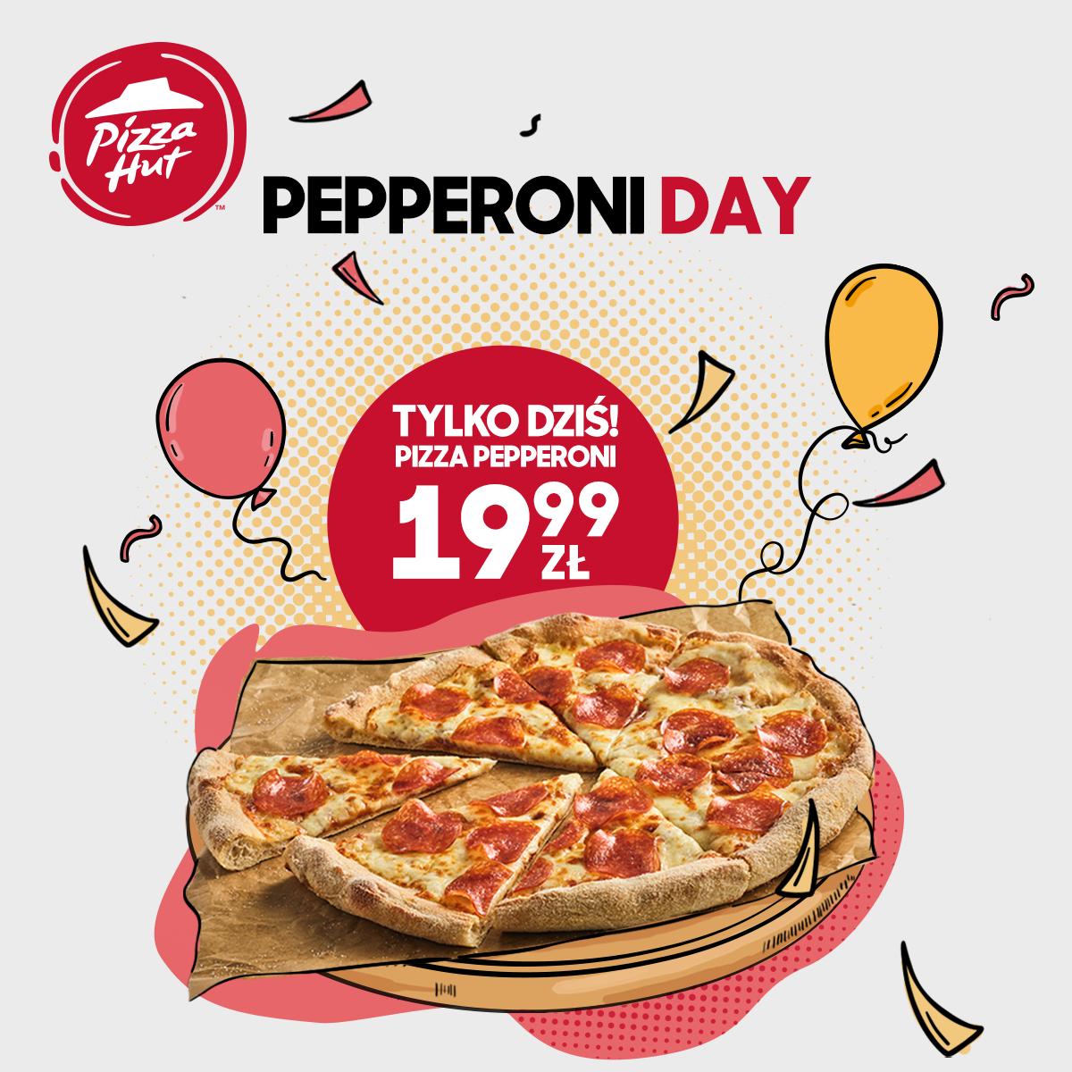 Pizza Pepperoni za 19.99 zł niezależnie od rozmiaru. Gratka dla Pepperowicza? @PizzaHut