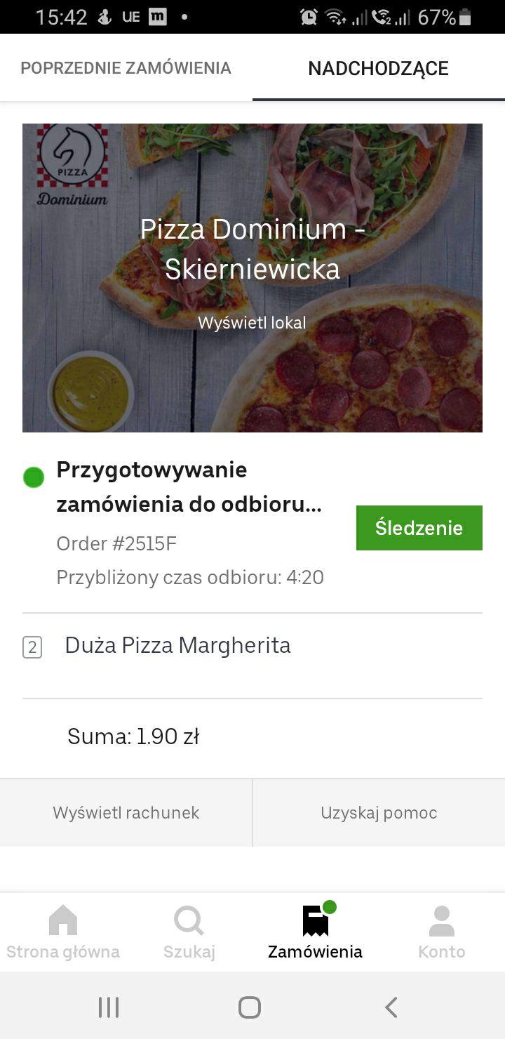 Uber Eats - błąd przy promocji 1 plus 1 gratis z kuponem 30 od 50 PLN