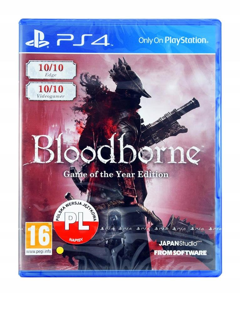 Bloodborne Edycja Gry Roku GOTY PL Ps4